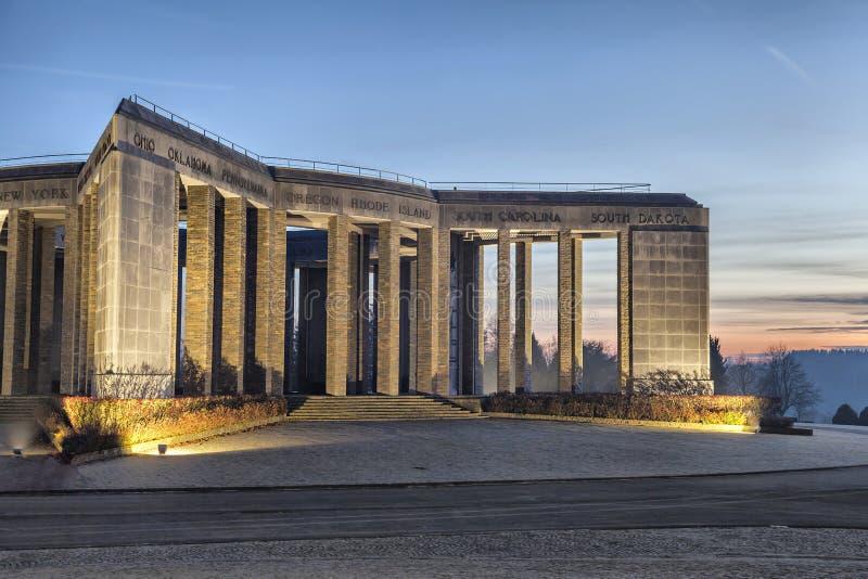 Mémorial de la deuxième guerre mondiale à Bastogne, Belgique images libres de droits