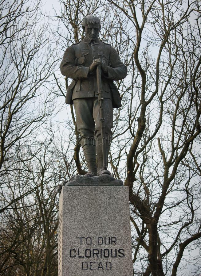 Mémorial de la deuxième guerre mondiale à nos morts glorieux photo libre de droits
