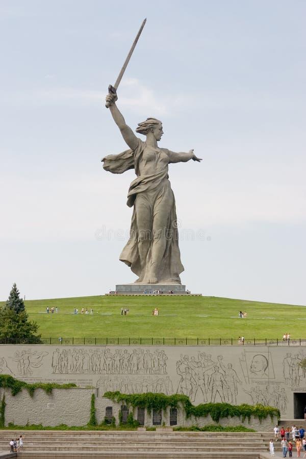Mémorial de la deuxième guerre mondiale à Volgograd images libres de droits