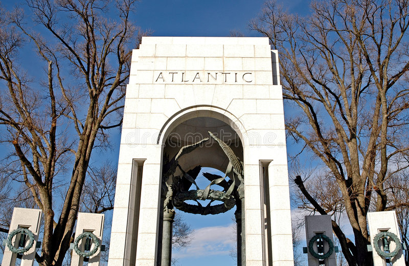 Mémorial de la deuxième guerre mondiale - Washington, C.C image libre de droits