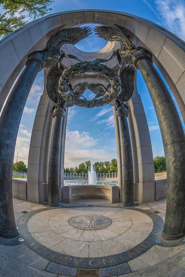 Mémorial de la deuxième guerre mondiale Washington DC, Etats-Unis détail image stock