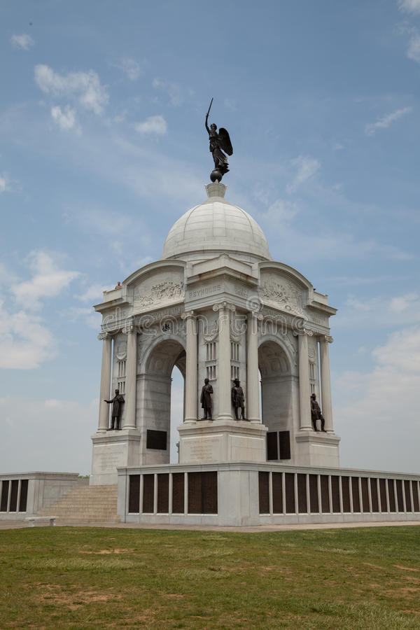 Mémorial de la Pennsylvanie en parc militaire national de Gettysburg photos libres de droits