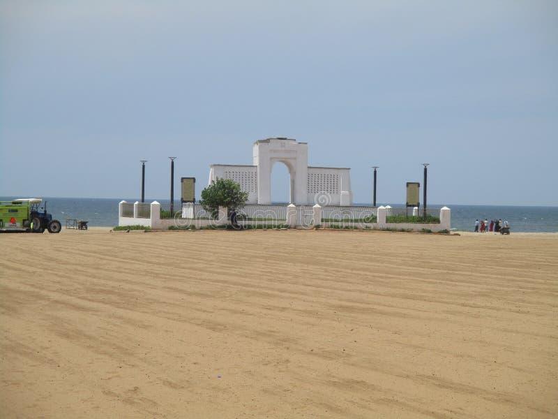 Mémorial de la plage d'Eliot propre et le plus sûr images stock