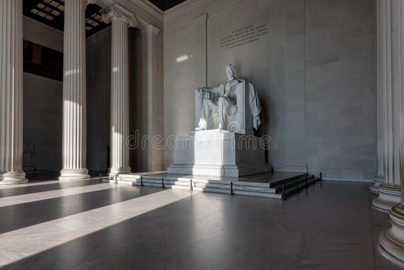 Mémorial de Lincoln dans le Washington DC photographie stock libre de droits
