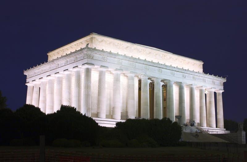 Mémorial de Lincoln la nuit images stock