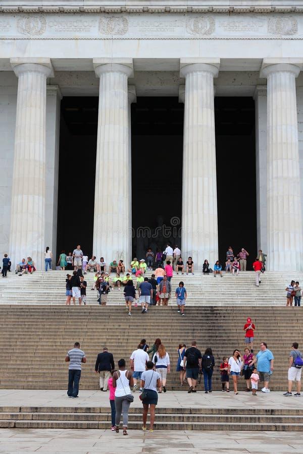 Mémorial de Lincoln, Washington DC images libres de droits