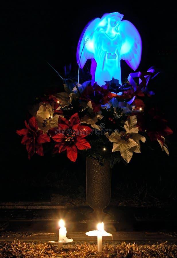 Mémorial de lueur de chandelle image stock