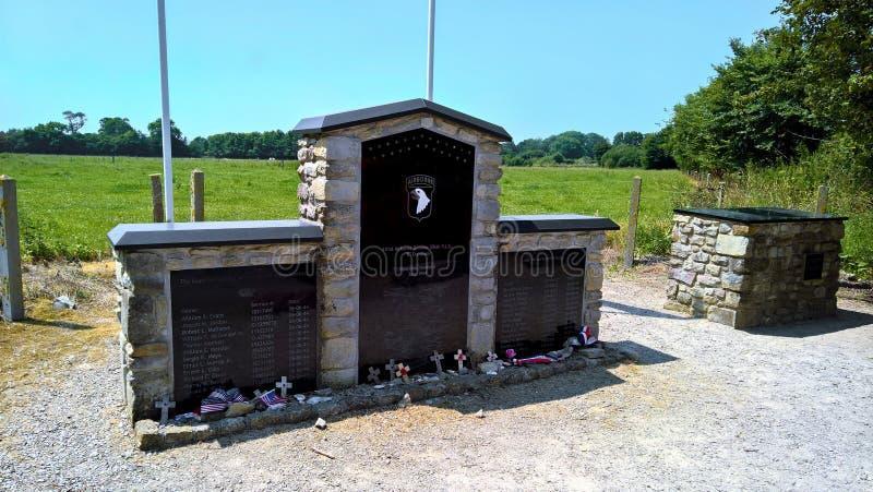 Mémorial de manoir de Brecourt photographie stock