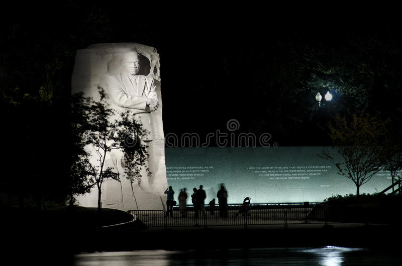 Mémorial de Martin Luther King Jr. dans le Washington DC photographie stock libre de droits