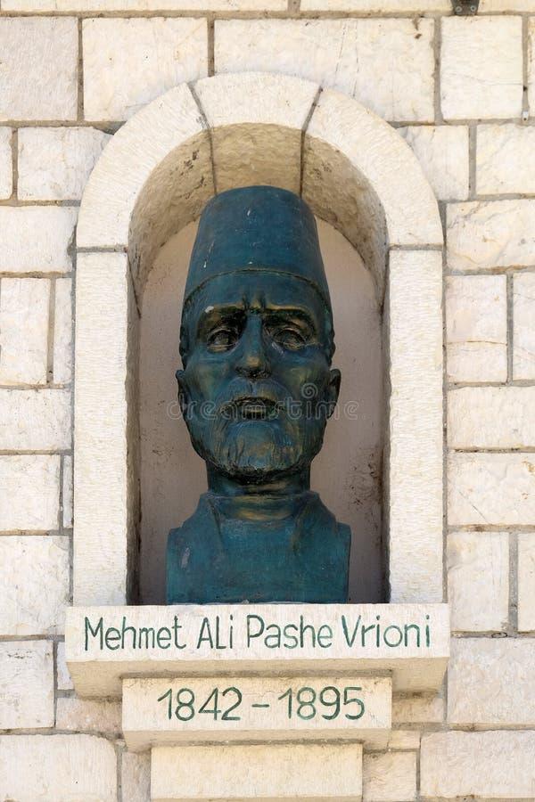 Mémorial de Mehmet Ali Pashe Vrioni dans Berat, Albanie images stock