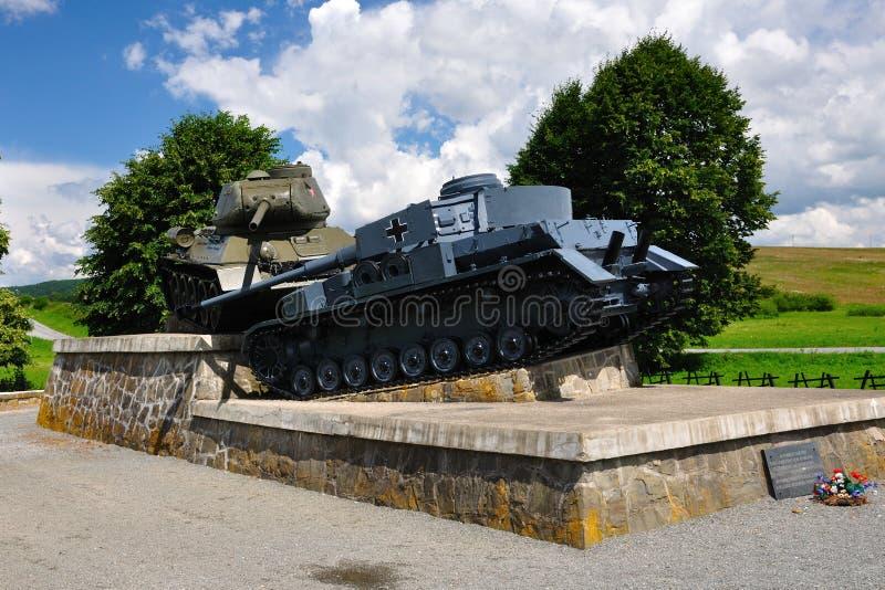Mémorial de passage de Dukla images libres de droits