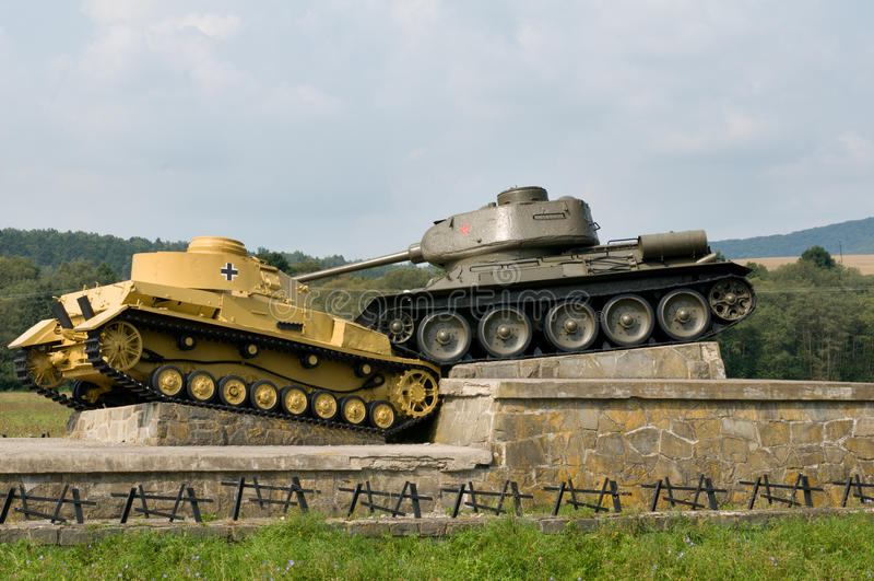Mémorial de passage de Dukla - Slovaquie photos libres de droits