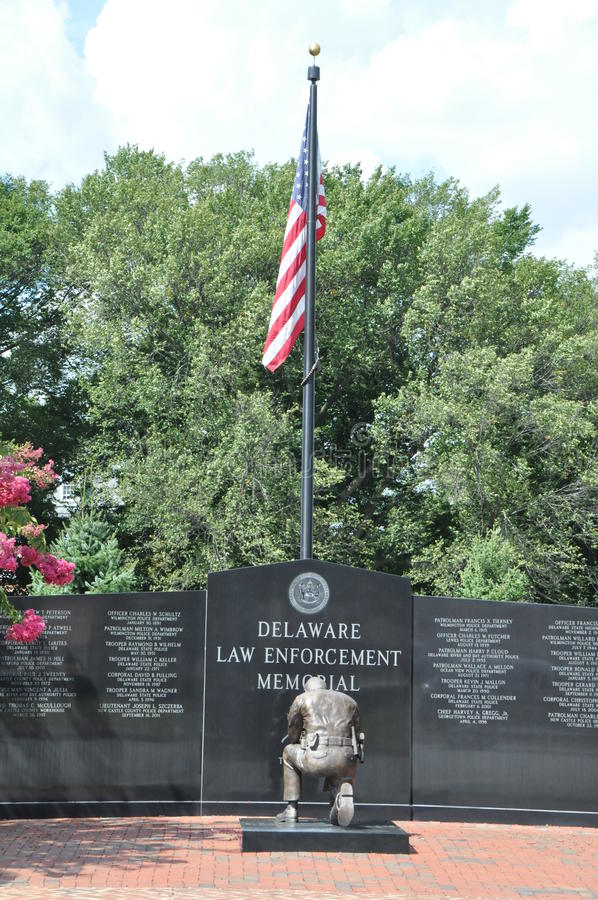 Mémorial de police du Delaware image stock