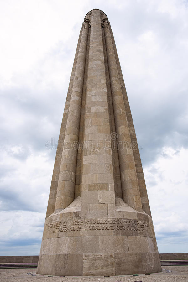 Mémorial de Première Guerre Mondiale, Kansas City MOIS photos stock