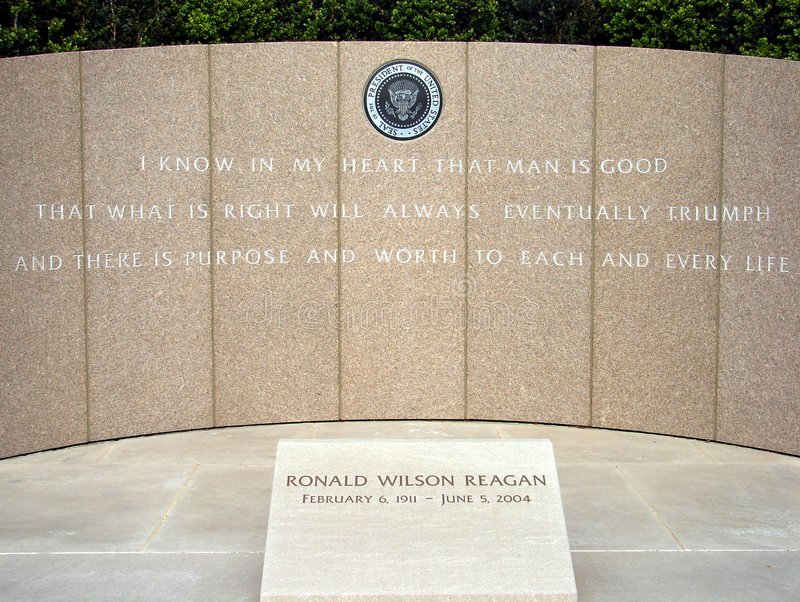 Mémorial de Ronald Reagan photos libres de droits