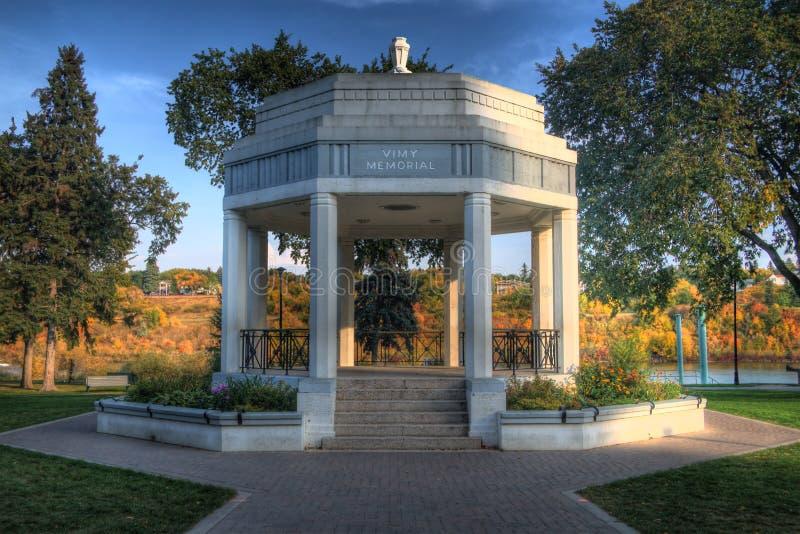 Mémorial de Saskatoon Vimy image stock
