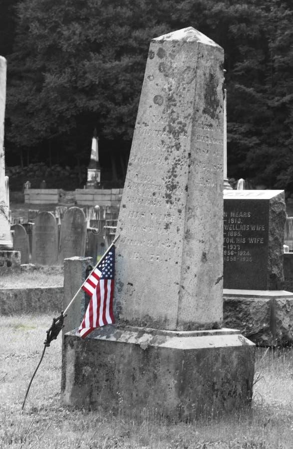 Mémorial de soudure avec le drapeau photographie stock libre de droits