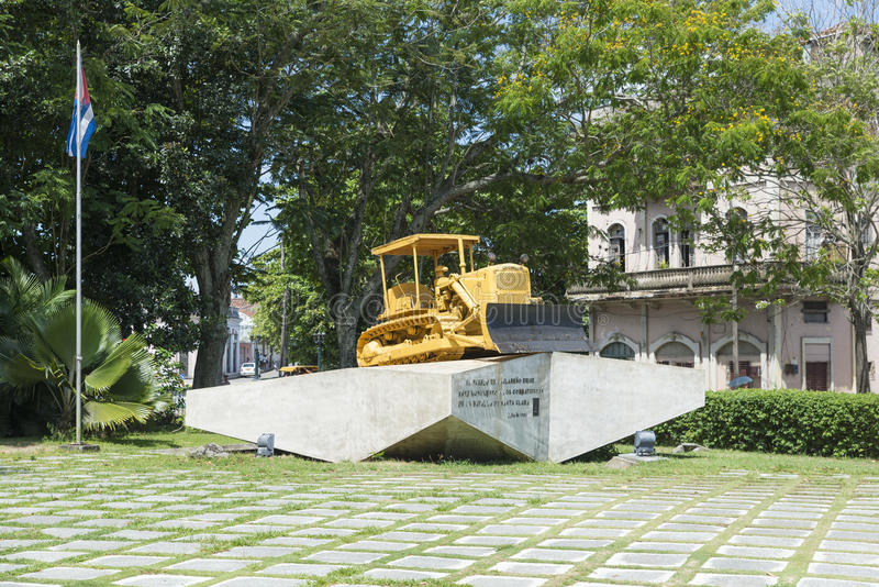 Mémorial de train de Santa Clara images stock