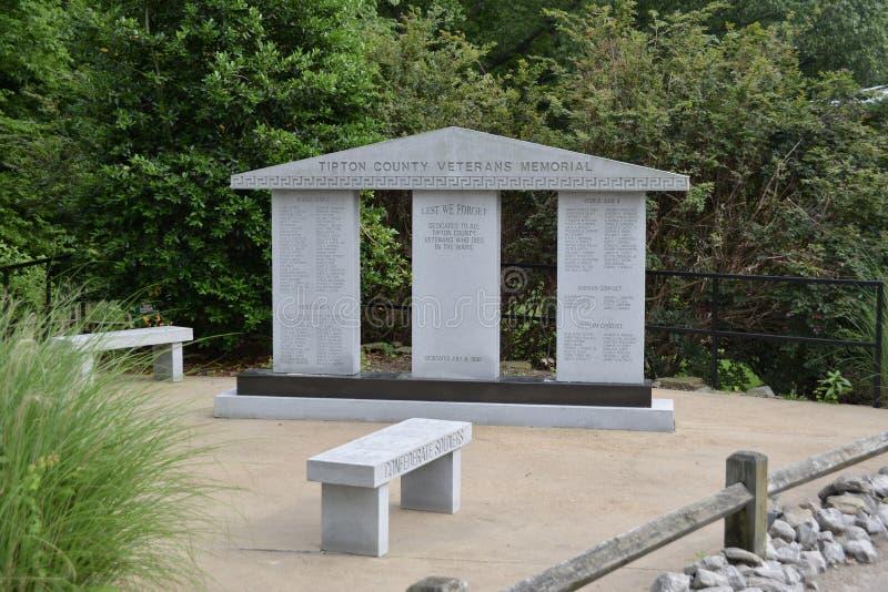 Mémorial de vétérans du comté de Tipton, Covington, TN photo libre de droits