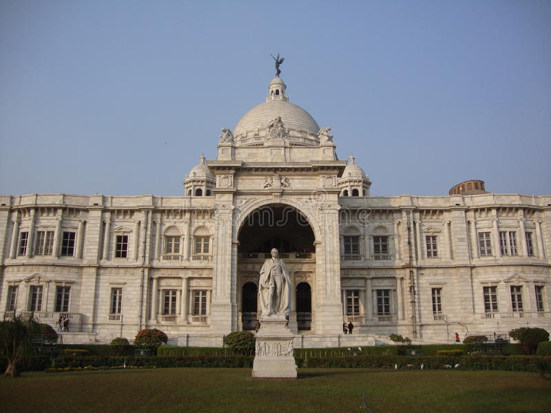 Mémorial de Victoria chez Kolkata images stock