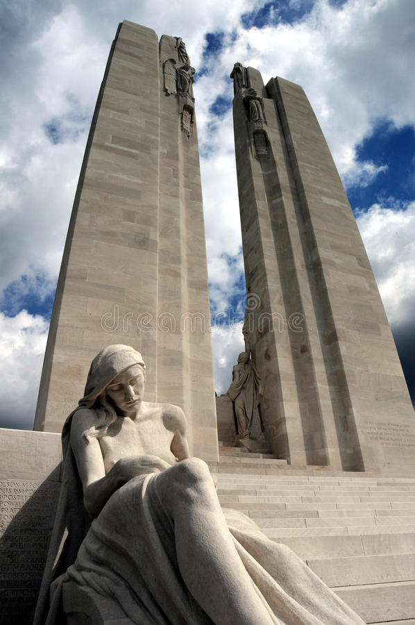 Mémorial de Vimy Ridge WW1 photographie stock