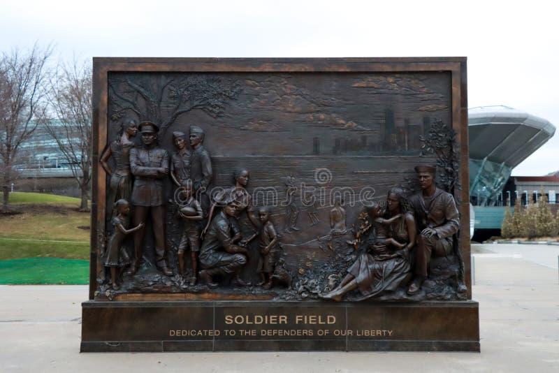 Mémorial des anciens combattants de Soldat Fields images libres de droits