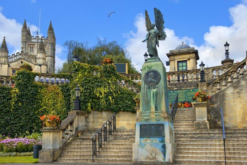 Mémorial du Roi Edward VII à Bath, Somerset, Angleterre images libres de droits
