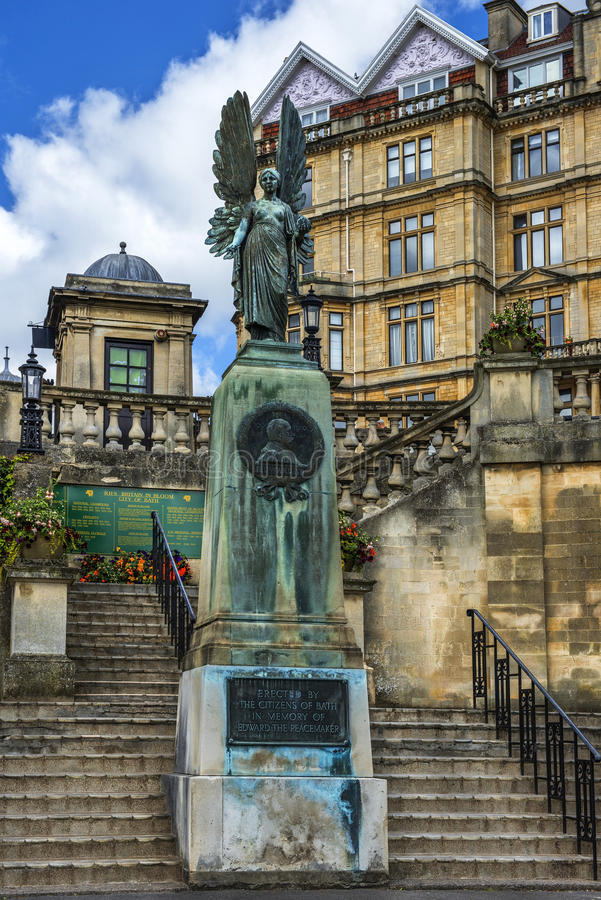 Mémorial du Roi Edward VII à Bath, Somerset, Angleterre photos libres de droits