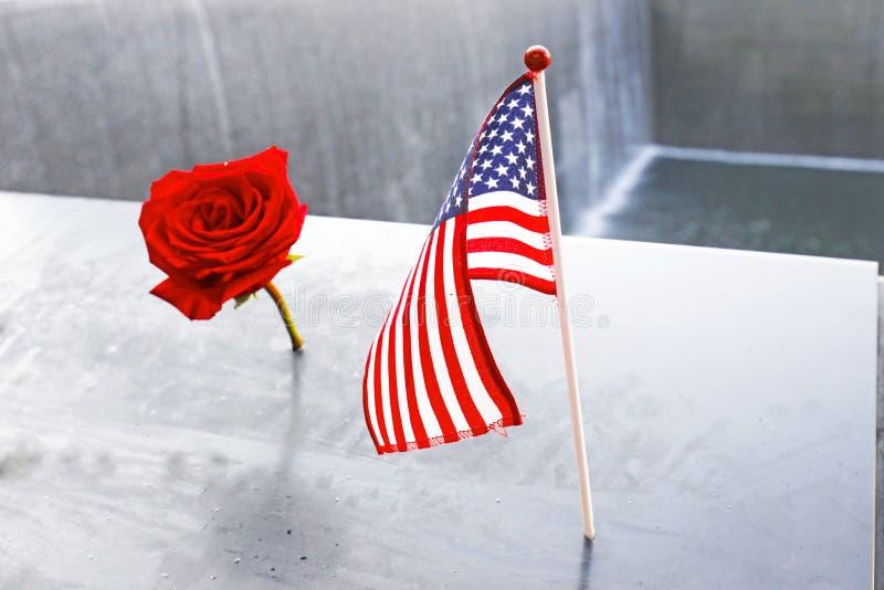 Mémorial 11 du ` s 9 de NYC au World Trade Center point zéro photos libres de droits