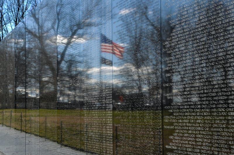 Mémorial du Vietnam dans le Washington DC images libres de droits