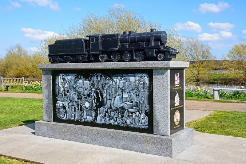 Mémorial ferroviaire d'industrie à l'arborétum commémoratif national, Alrewas photo stock