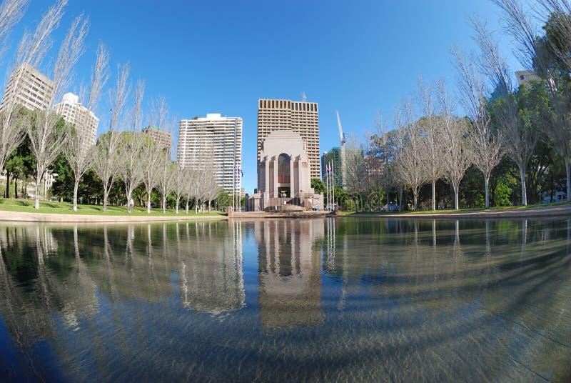 Mémorial Hyde Park de guerre d'Anzac images stock