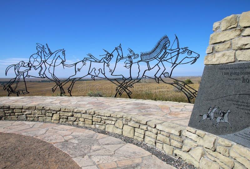 Mémorial indien au monument national de champ de bataille de Little Bighorn, photos stock