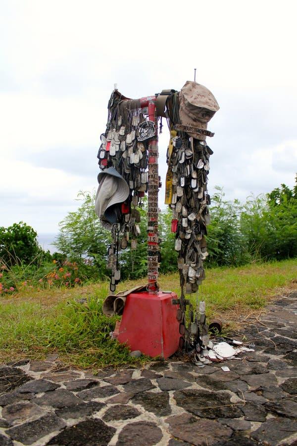 Mémorial marin sur le bâti Suribachi Iwo Jima, Japon photo stock