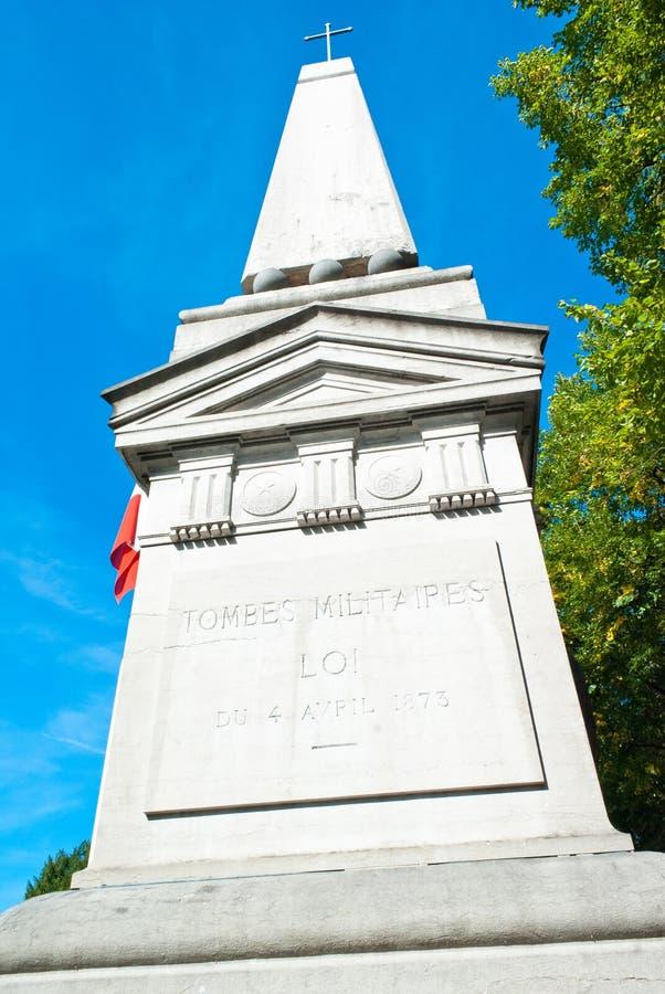 Mémorial militaire à Paris images libres de droits