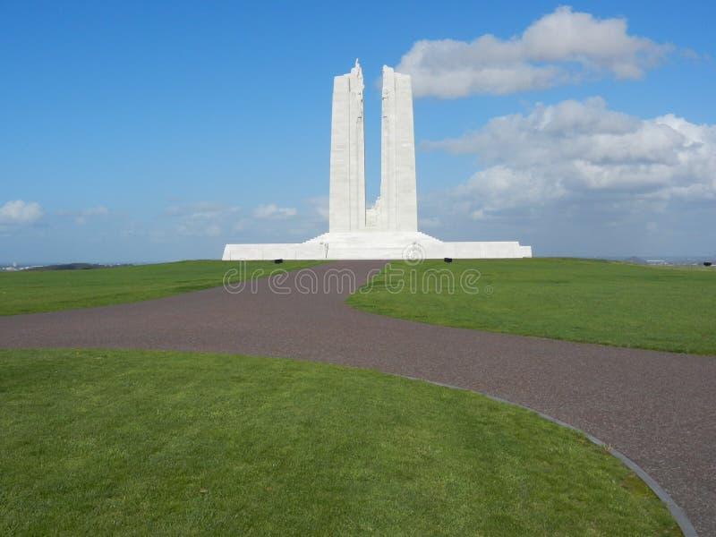 Mémorial national canadien de Vimy images libres de droits