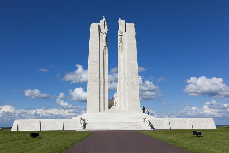 Mémorial national canadien de Vimy photos stock