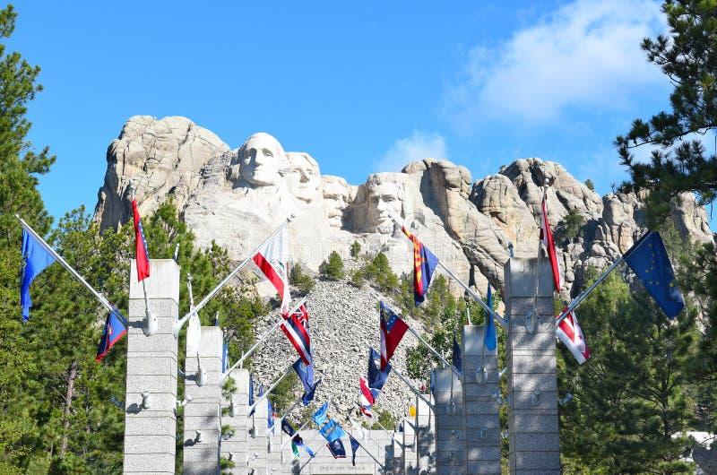 Mémorial national de rushmore de support images libres de droits