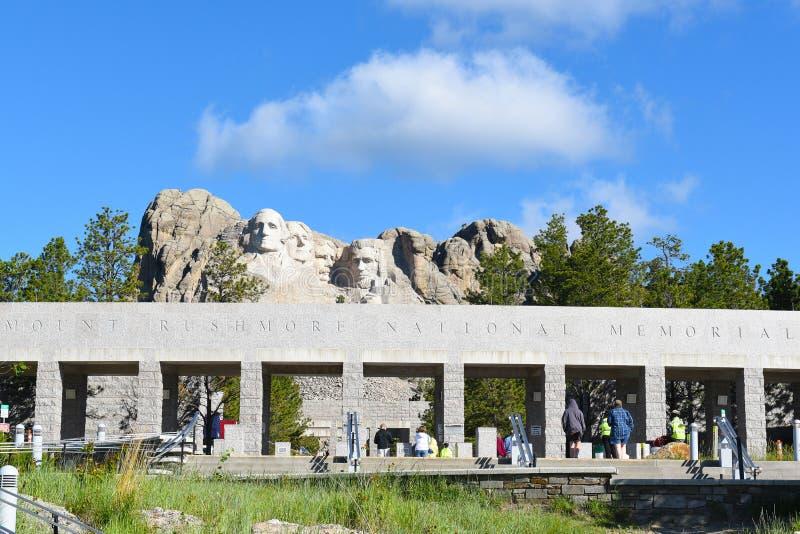 Mémorial national de rushmore de support photographie stock libre de droits