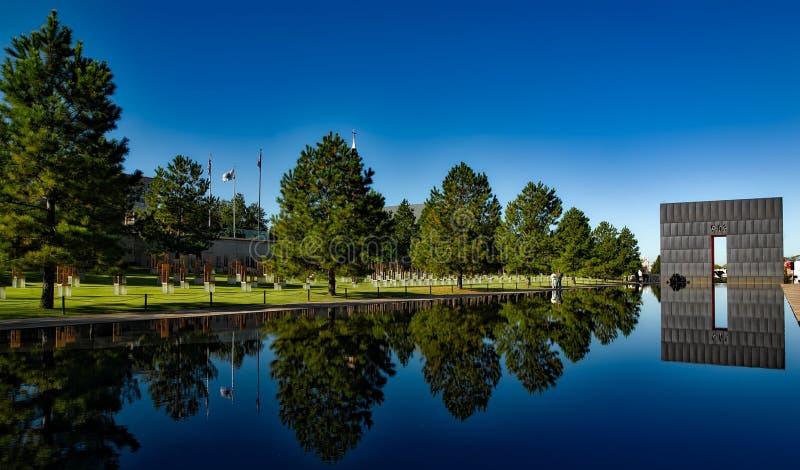 Mémorial national de ville de l'Oklahoma photographie stock libre de droits