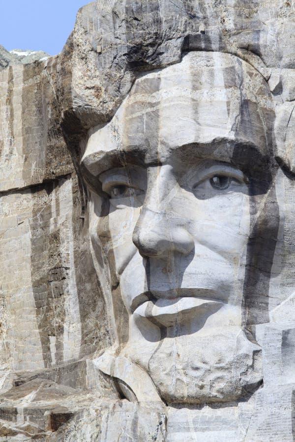 Mémorial national du mont Rushmore avec le Président Abraham Lincoln photographie stock libre de droits