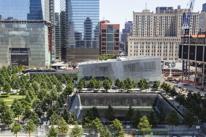 9 11 mémorial, New York, éditorial photos stock