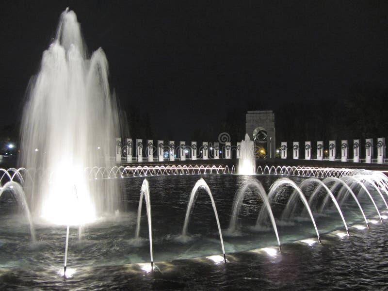 Mémorial Pacifique la nuit photographie stock libre de droits