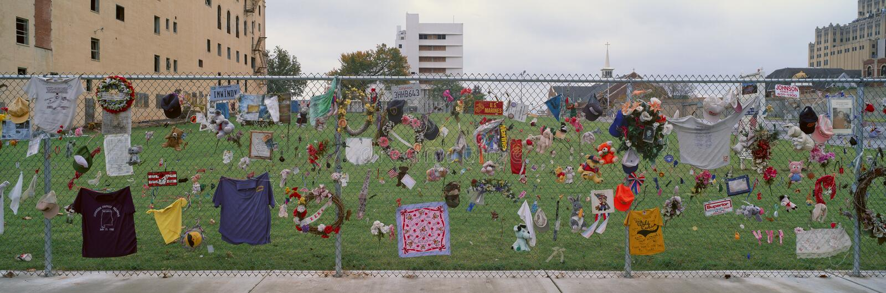 Mémorial pour le bombardement 1995 de Ville d'Oklahoma photo stock
