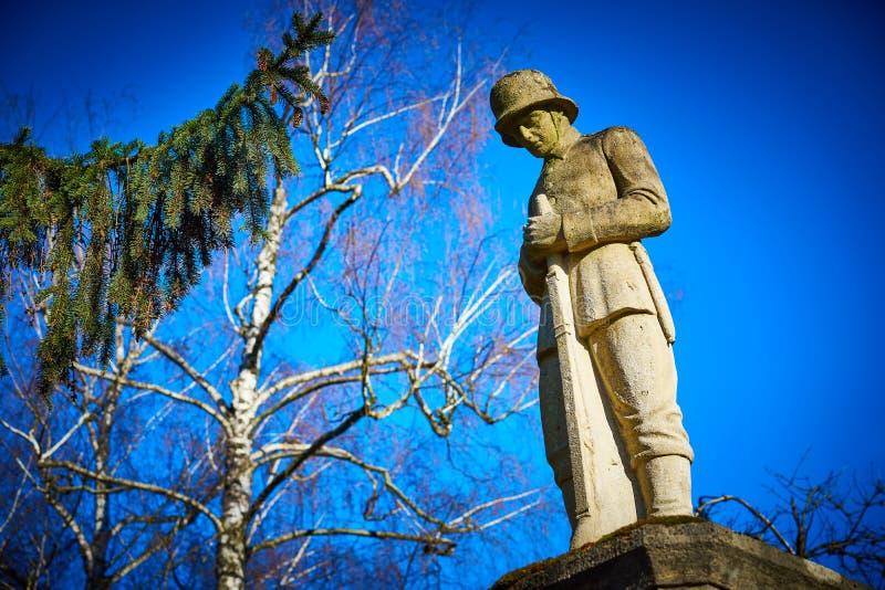 Mémorial pour les soldats tombés dans la première guerre mondiale image stock