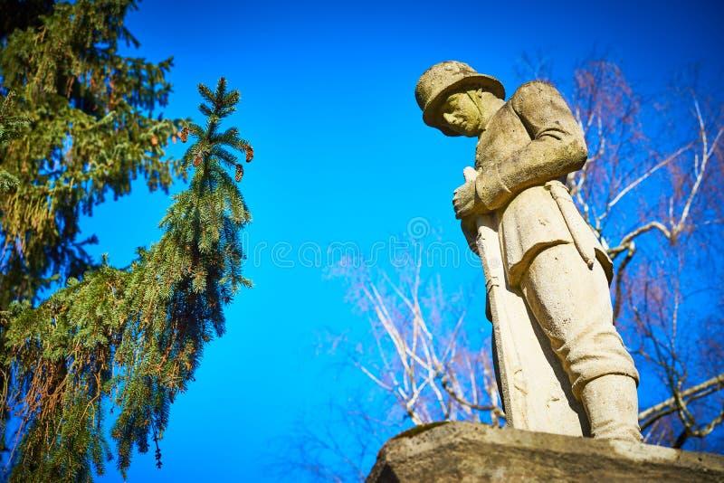 Mémorial pour les soldats tombés dans la première guerre mondiale image libre de droits