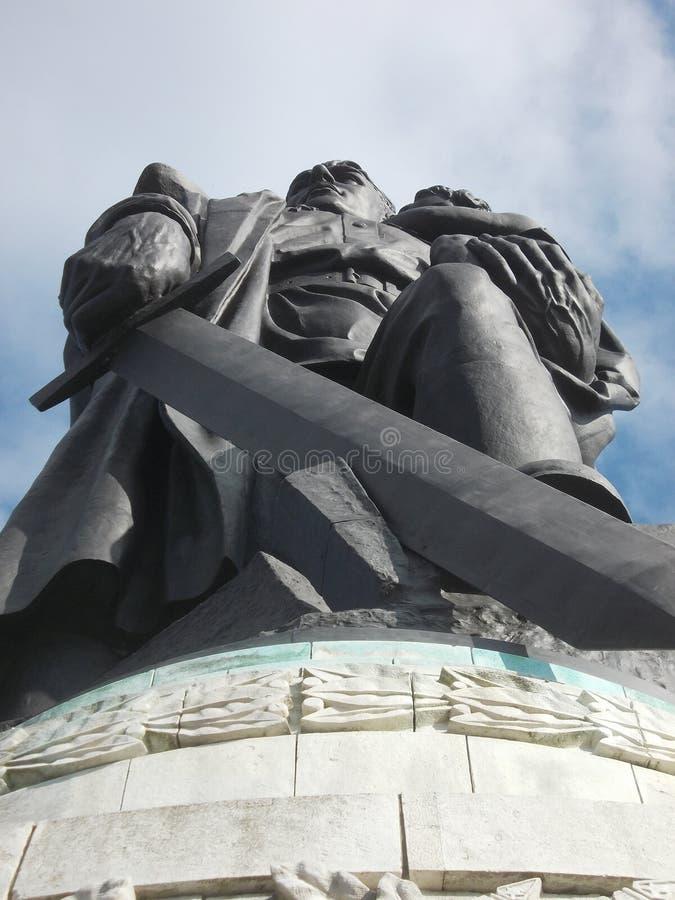 Mémorial russe de guerre à Berlin image stock