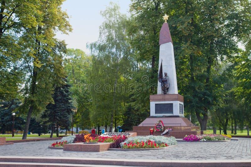 Mémorial soviétique à Grodno, Belarus images stock