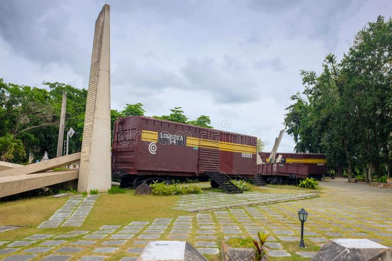 Mémorial 'Train blindé', Santa Clara, Cuba, 01 04 2018 photos stock