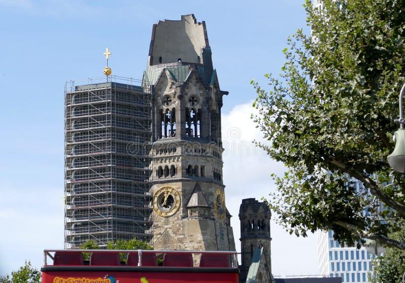 mémorial Wilhelm de kaiser d'église de Berlin photographie stock
